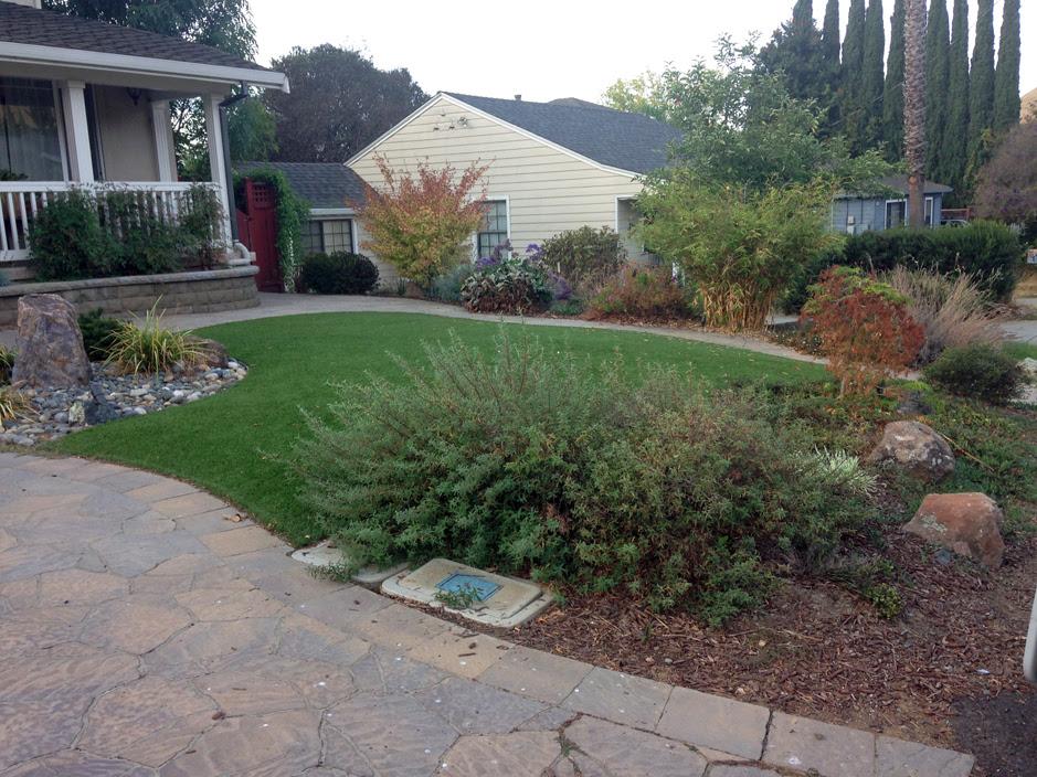 Plastic Grass Redlands California City Landscape Front Yard
