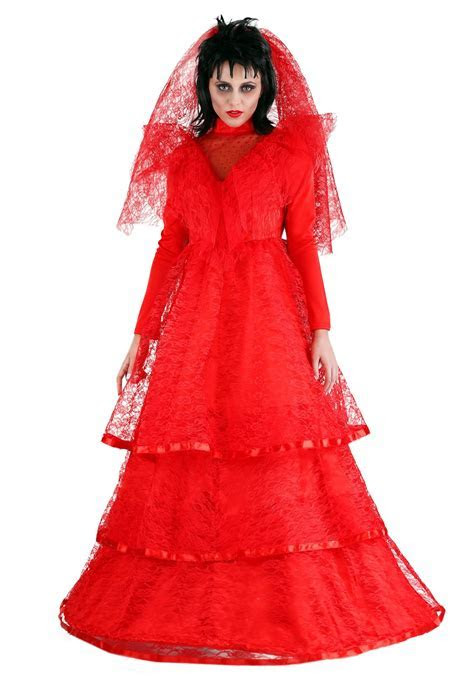 Red Gothic Wedding Dress Costume