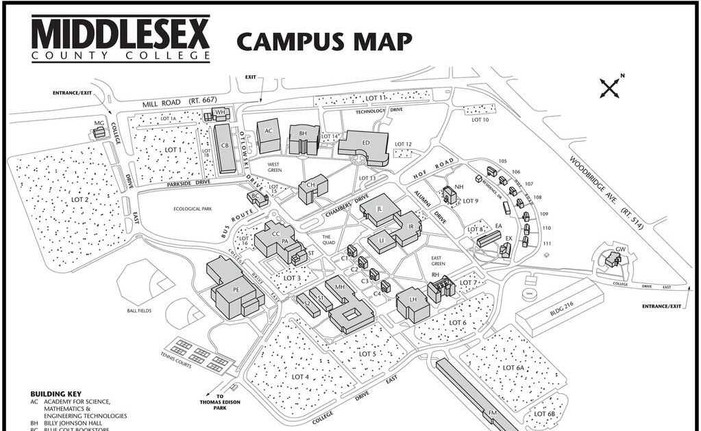Middlesex County College Map Camilagripp