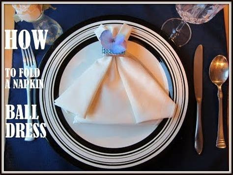 Napkin Folding: 9 Ways to Fold a Napkin Dress   YouTube
