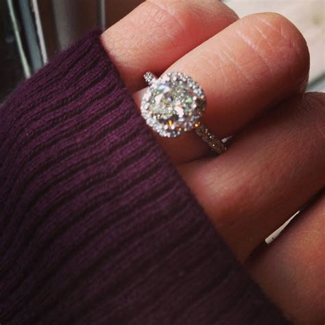 Best 25  Engagement rings cushion ideas on Pinterest