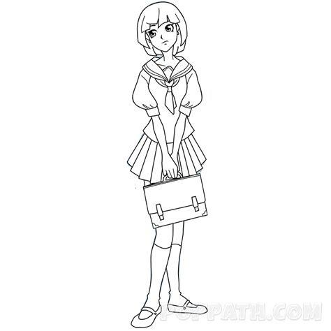 draw  school girl pop path