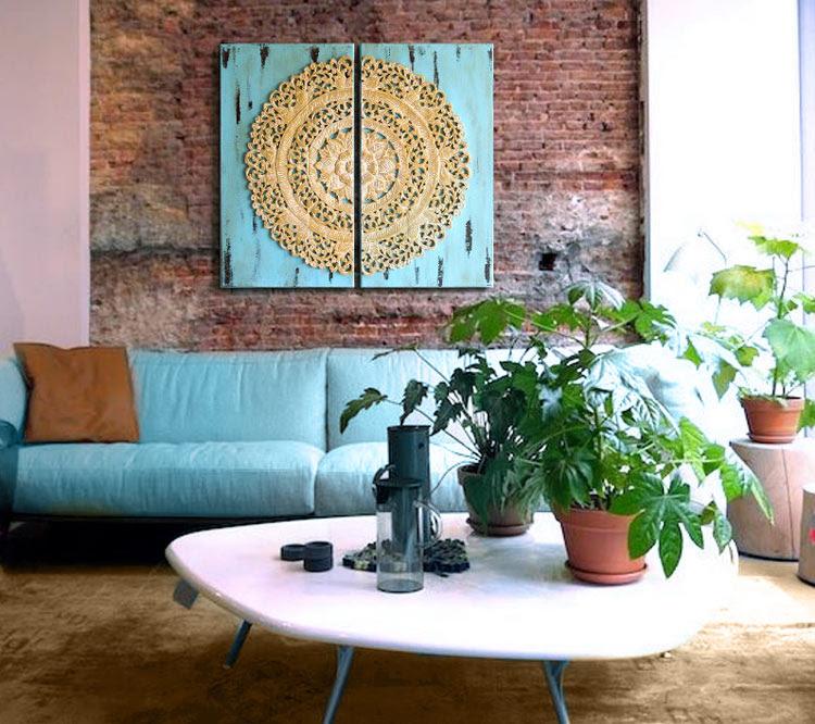 cuadros mandalas sofas