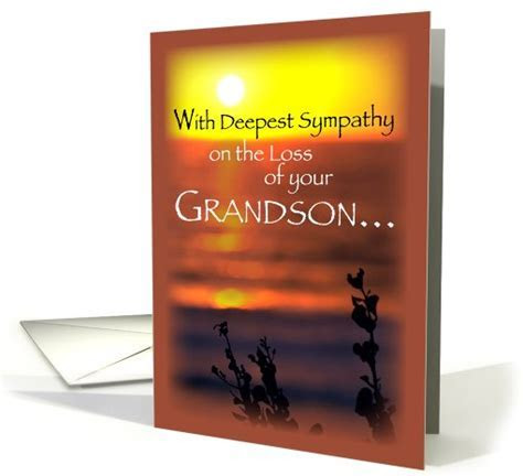 Sympathy Loss of Grandson, Sunset card (527765)