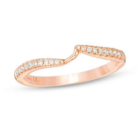 Ever Us? 1/8 CT. T.W. Diamond Contour Band in 14K Rose