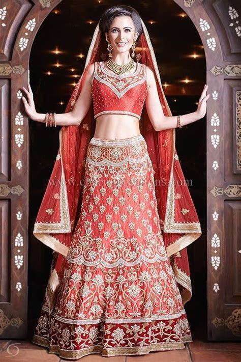 Indian Wedding Outfit   Red raw silk heavily embroidered 8