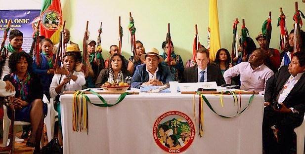 Presentación de la Comisión Étnica para la Paz y la Defensa de los Derechos Territoriales de Colombia. Foto: ONIC