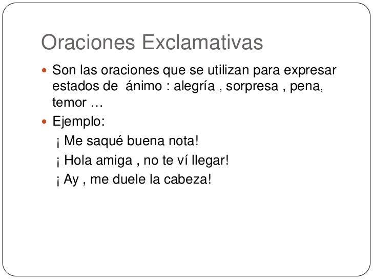 Ejemplos De Oraciones Enunciativas Para Niños Colección De