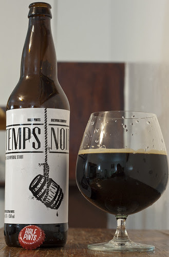 Review: Half Pints Le Temps Noir Imperial Stout by Cody La Bière