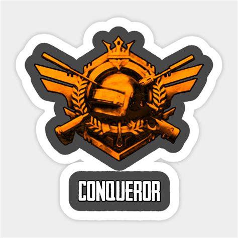 pubg conqueror pubg sticker teepublic