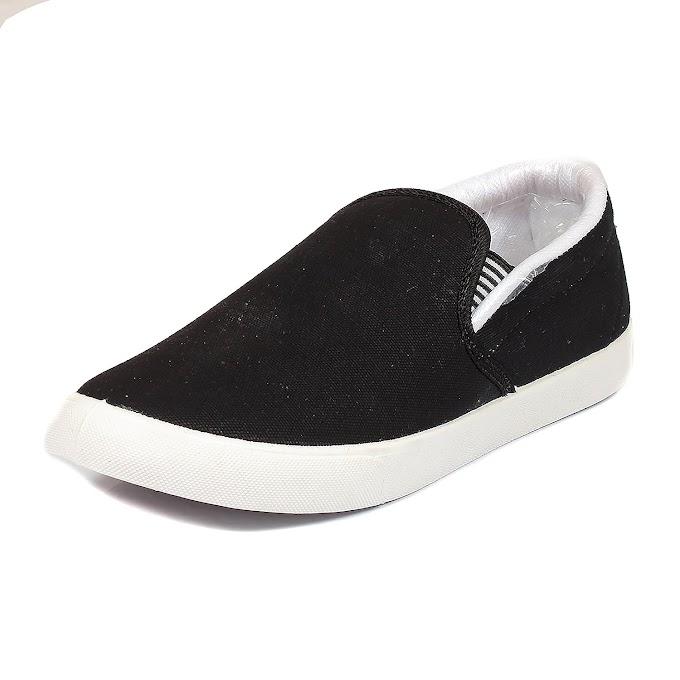 SCATCHITE Black & White Loafers & Mocassins