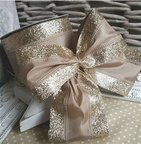 wired champagne gold vintage lace christmas ribbon cake