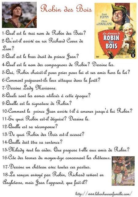 AAAAAAAAAAAquestionnaire Robin des Bois