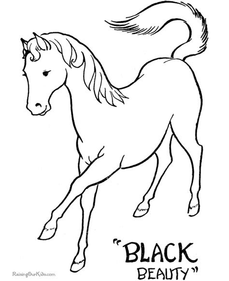 printable coloring pages  horses  color