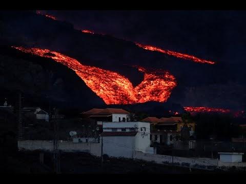 Ao Vivo - Erupção de lava em La Palma regista fortes explosões