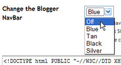Turn Off the Blogger  Navbar