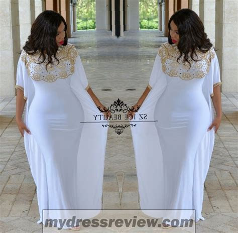 Gold And White Plus Size Dress   Always In Style 2017 2018