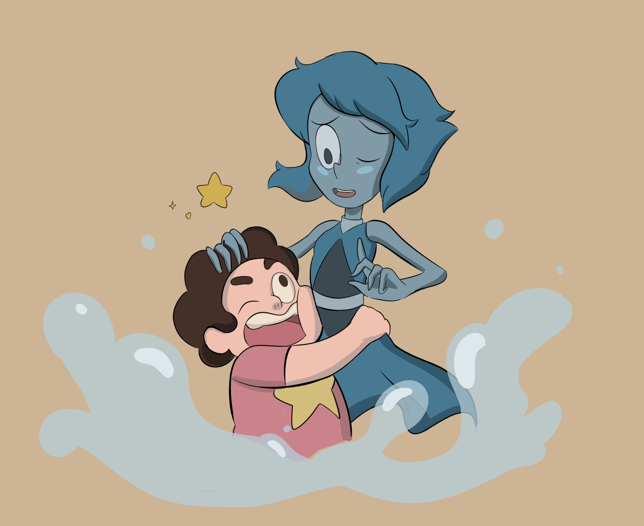 Welp. Its cute. Had a lot of fun drawing in the SU style, always fun to dig into that kind of thing. ^ .^
