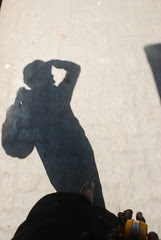 The Silhouette of a Barefeet Blogger by firoze shakir photographerno1