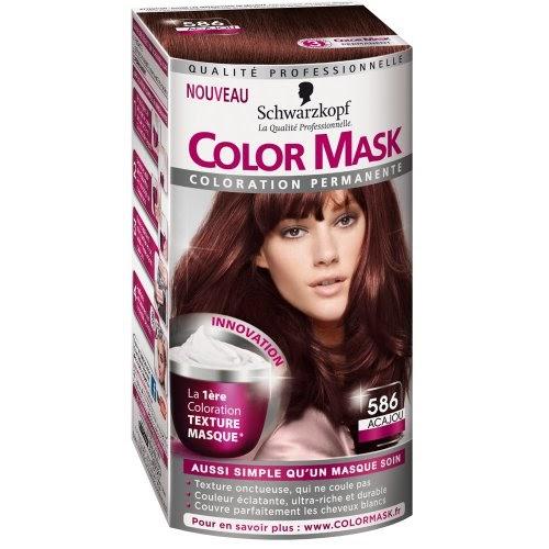 schwarzkopf color mask coloration permanente pour cheveux acajou 586 colorations. Black Bedroom Furniture Sets. Home Design Ideas