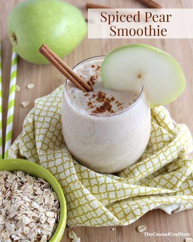 Spiced Pear Smoothie from www.thecasualcraftlete.com