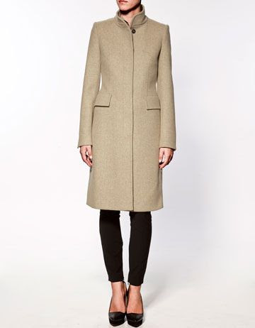 Zara Coat With Flap Pockets