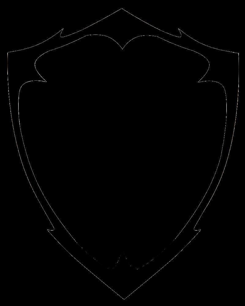 Blank Shield Logo Vector PNG | PNG Mart