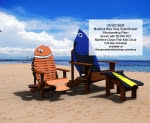 Maritime Blue Tang Chair and Rocker Woodworking Plan - fee plans from WoodworkersWorkshop® Online Store - blue tang fish chairs,Adirondack chairs,finding nemo,Disney,yard art,painting wood crafts,scrollsawing patterns,drawings,plywood,plywoodworking plans,woodworkers projects,workshop blueprints