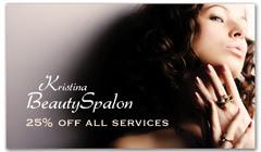 CPS-1081 - salon coupon card