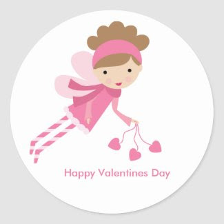 Sweet Fairy Valentines Day sticker