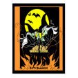 Halloween Witches Cauldron Post Card