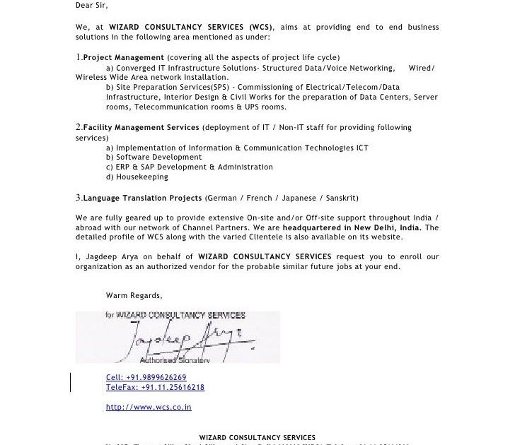 Interior Design Company Introduction Letter Sample