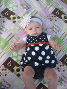 I'm counting this as her 5 month shot! She's so beautiful!!!