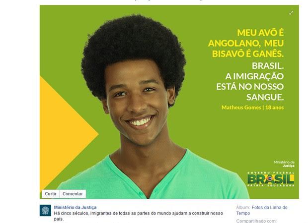 Post do Ministério da Justiça xenofobia polêmica imigração facebook (Foto: Reprodução/Facebook)