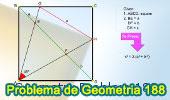 Problema de Geometría 188 (ESL): Cuadrado, Diagonal, Relaciones Métricas, 45 Grados, Teorema de Pitágoras.