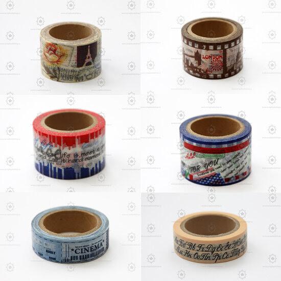 Декоративные скотчи (washi tape). Интернет-магазин товаров для скрапбукинга Скрапбукшоп (www.scrapbookshop.ru).