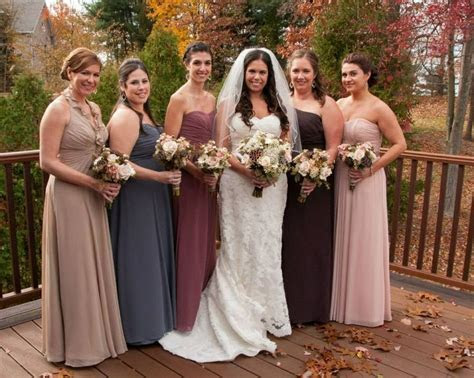Different color bridesmaid dresses   Wedding Ideas in 2019