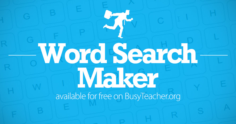 a word search in seconds with our FREE word search maker! From 5x5 ...