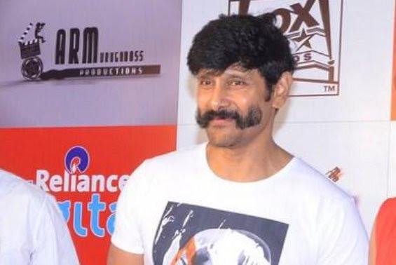 Vikram's handlebar moustache look for his next?