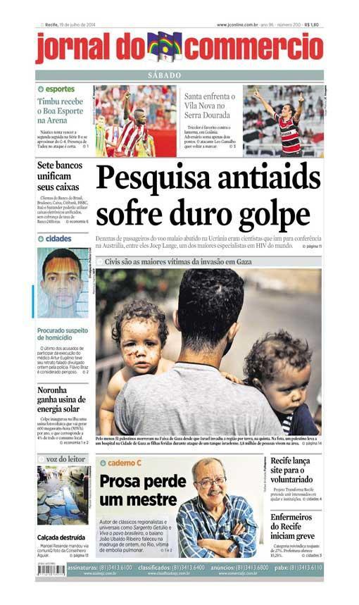 Capa do Jornal - 19/07/2014