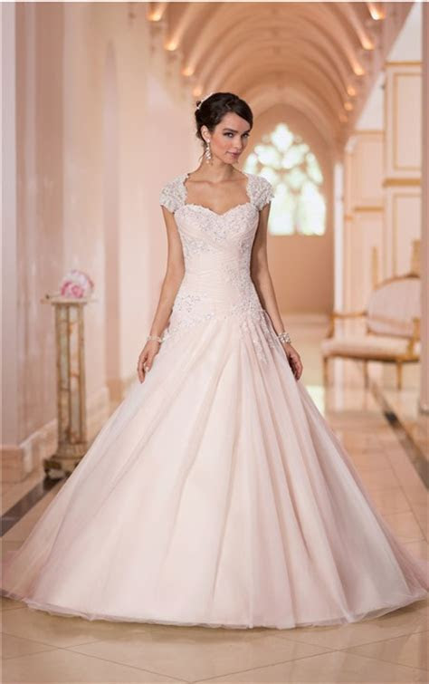Ball Gown Sweetheart Keyhole Open Back Blush Pink Tulle