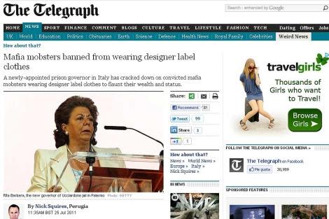 Pantalla de The Telegraph con el error.