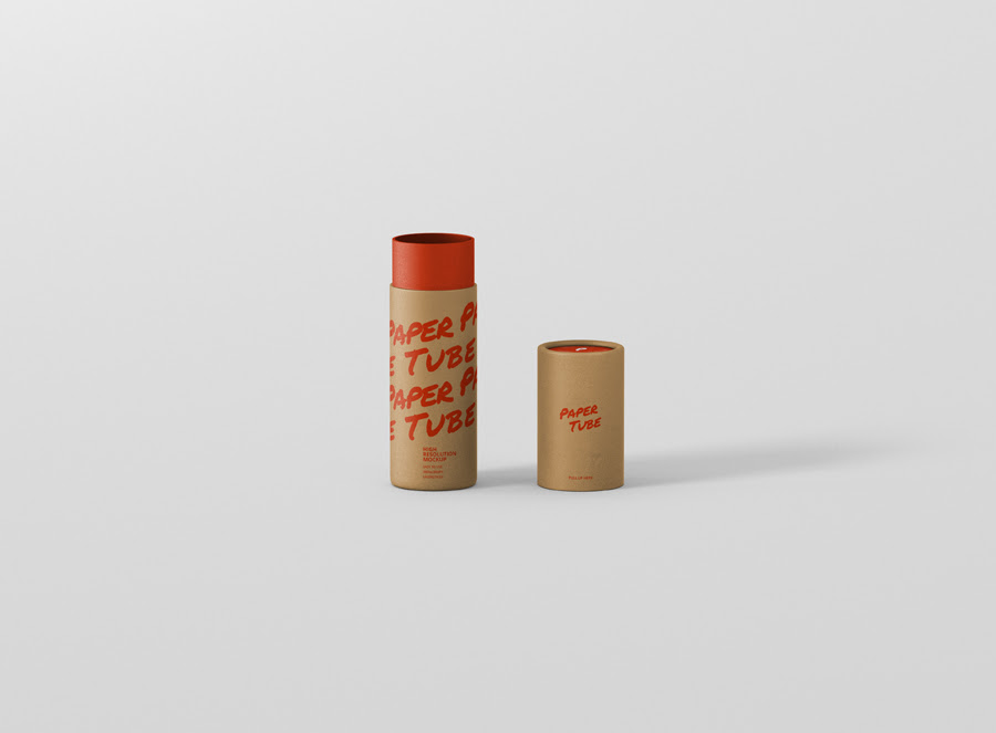 Download Paper Tube Mockup Slim Short Size - Premium and Free Mockups