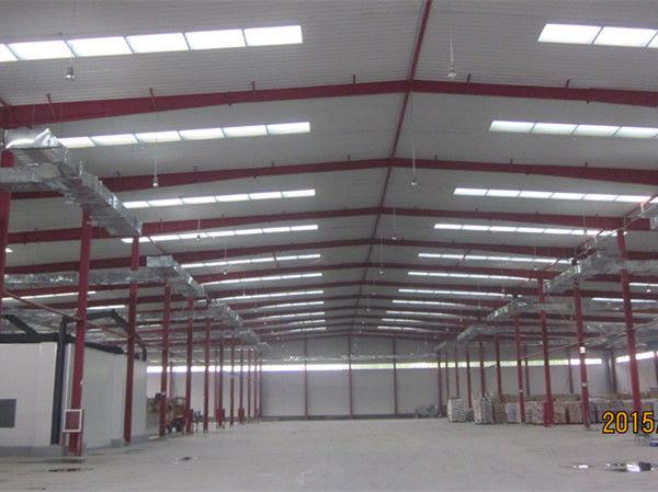 Portale Frame Desain Bangunan Gudang Pra Insinyur Bangunan Gudang Prefab