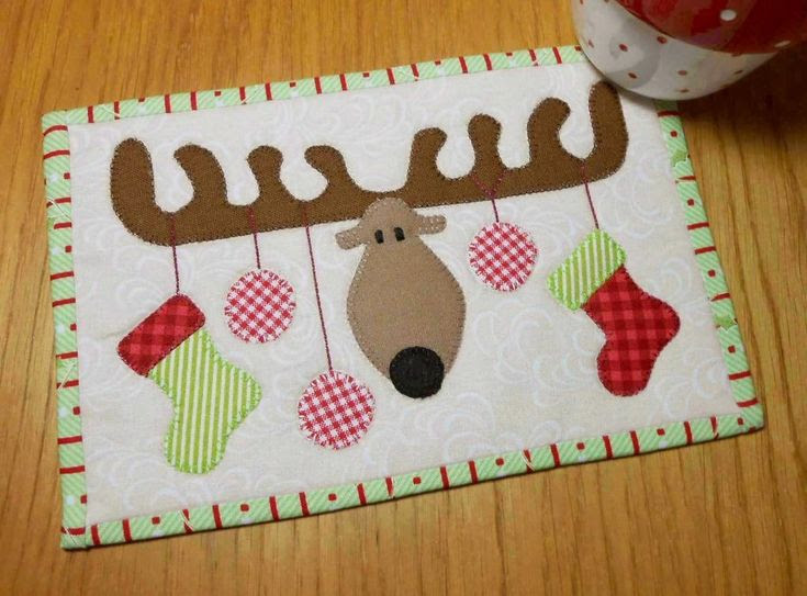 Christmas Antlers ... by The Patchsmith | Quilting Pattern - Looking for your next project? You're going to love Christmas Antlers Mug Rug by designer The Patchsmith. - via @Craftsy