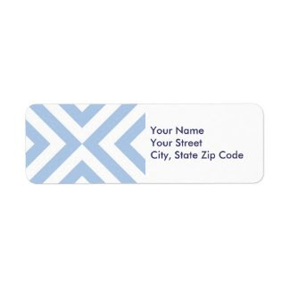 Light Blue and White Chevrons return address label