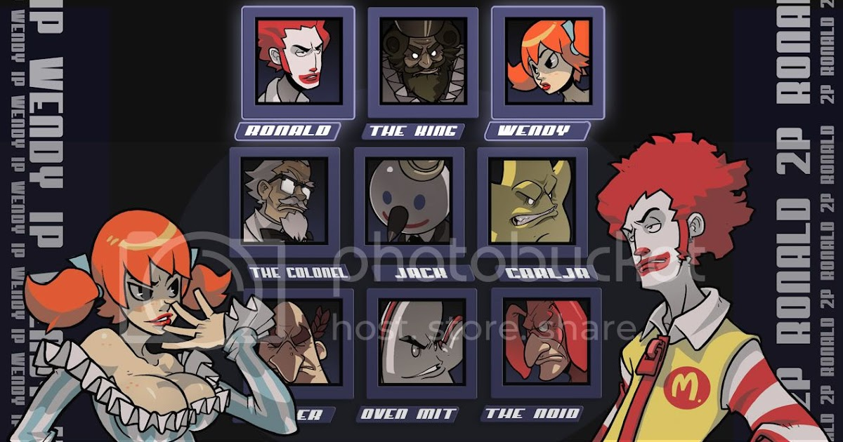Mugen Fast Food Characters