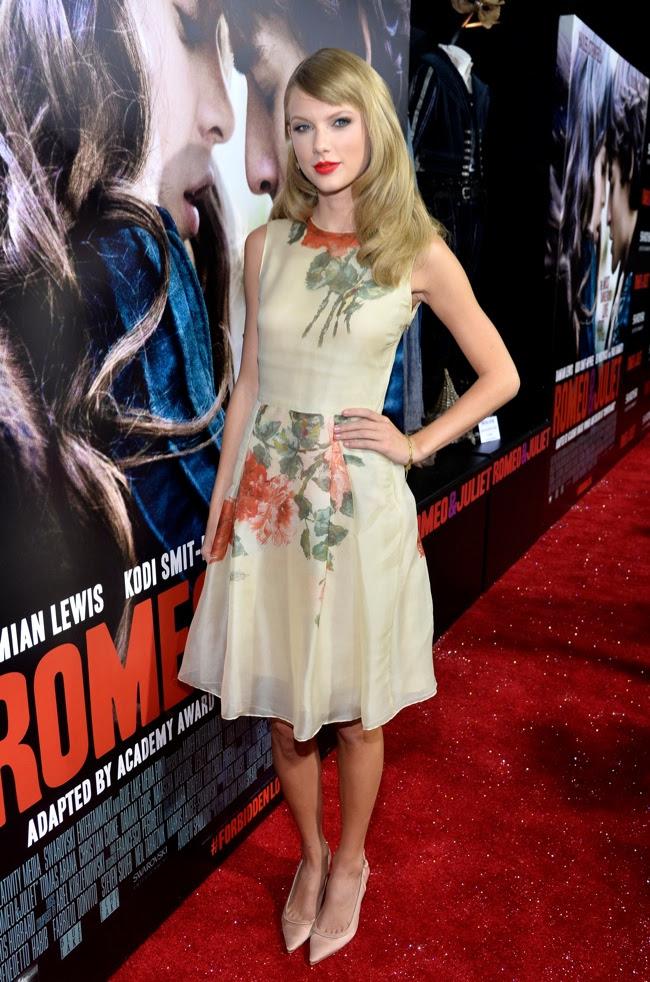 taylor swift reem acra1 Taylor Swift veste Reem Acra na estreia Romeo & Juliet