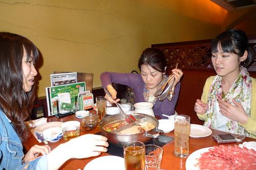 Ai, Iyo and Maiko eating