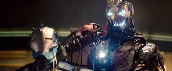 Ultron crushes the head of his lifeless duplicate in 2015's AVENGERS: AGE OF ULTRON.